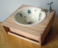 Basin in beech unit